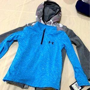 Under Armour Shirt & Nike Fleece Boy Size 4